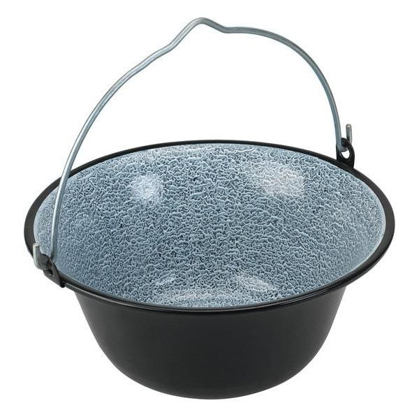 smaltovaný gulášový kotlík 40 L černý (kotlík na guláš smaltovaný 40 L servírovací)
