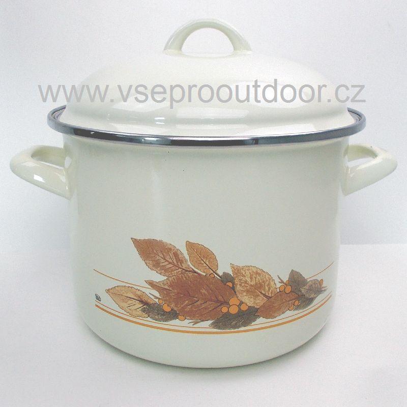 hrnec s poklicí Ema-Lion Alice podzimní listí 7,5 L (hrnec smaltovaný podzimní listí 7,5 L)