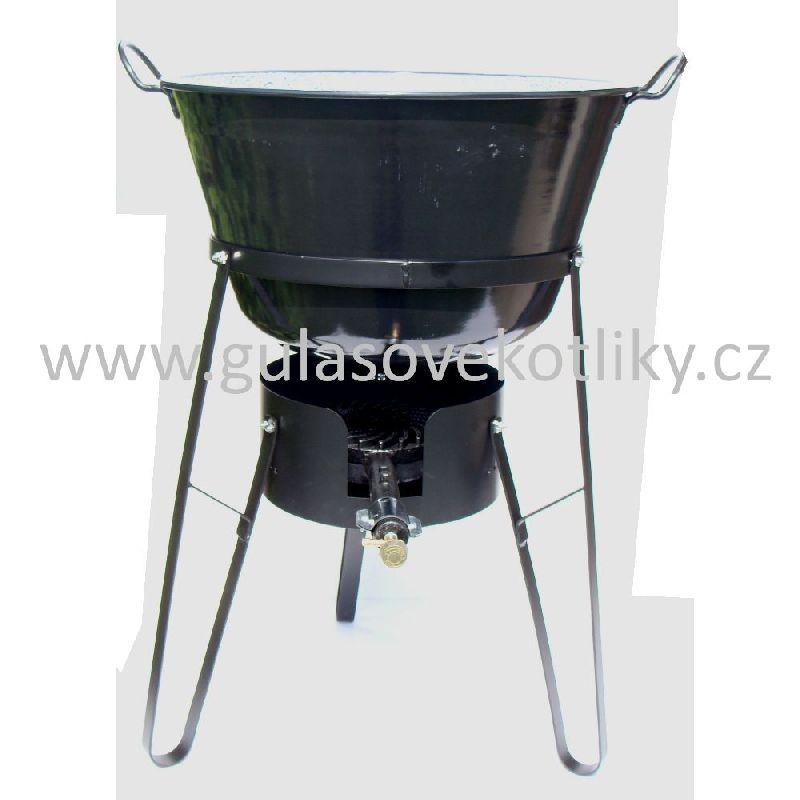 souprava stojan vařič a zabíjačkový kotel 50 litrů (Stojan je vhodný pro vaření a ohřívání na akcích a v místech kde není vhodné nebo možné použití klasického ohniště.)