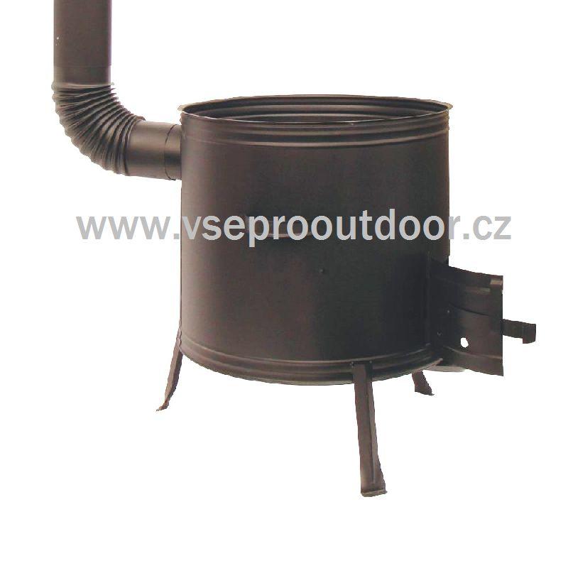 kotlina s kouřovodem na zabíjačku 60 cm (kotlina zabíjačková 60 cm s kouřovodem s možností připojení na komín)