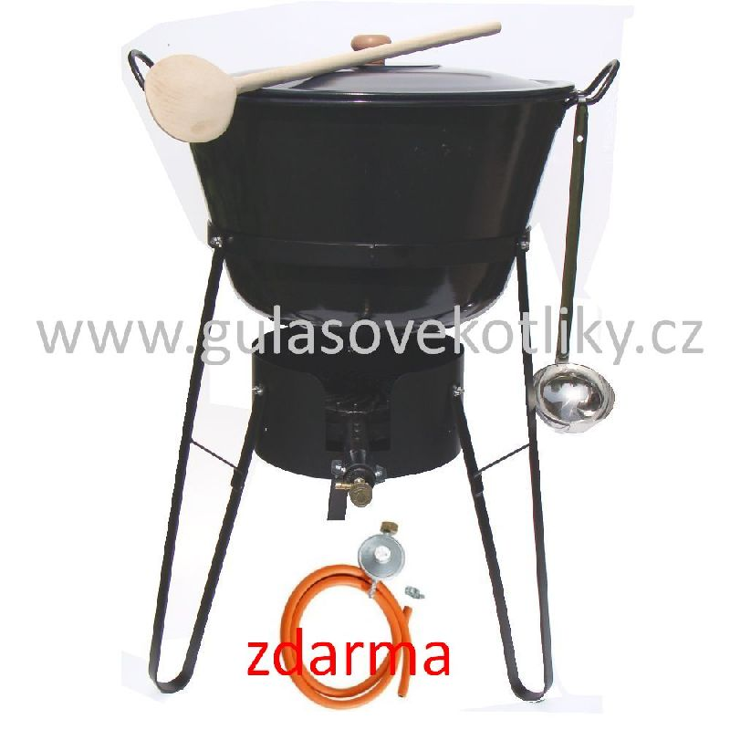 souprava stojan vařič a zabíjačkový kotel 60 litrů s poklicí FULL (Stojan je vhodný pro vaření a ohřívání na akcích a v místech kde není vhodné nebo možné použití klasického ohniště.)