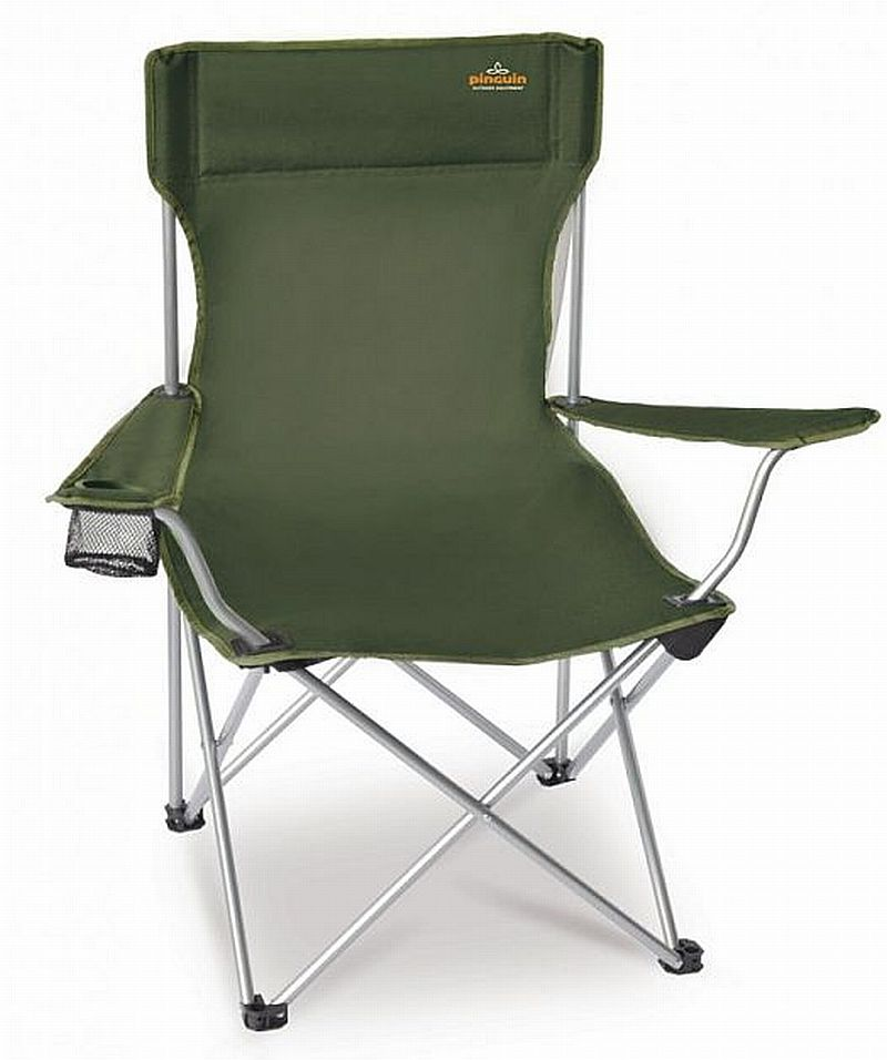 Kempinkové křeslo CHAIR zelené (skládací kempinková židle)