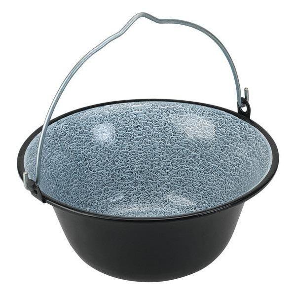 smaltovaný gulášový kotlík 0,8 L černý servírovací (kotlík na guláš smaltovaný 0,8 L servírovací)