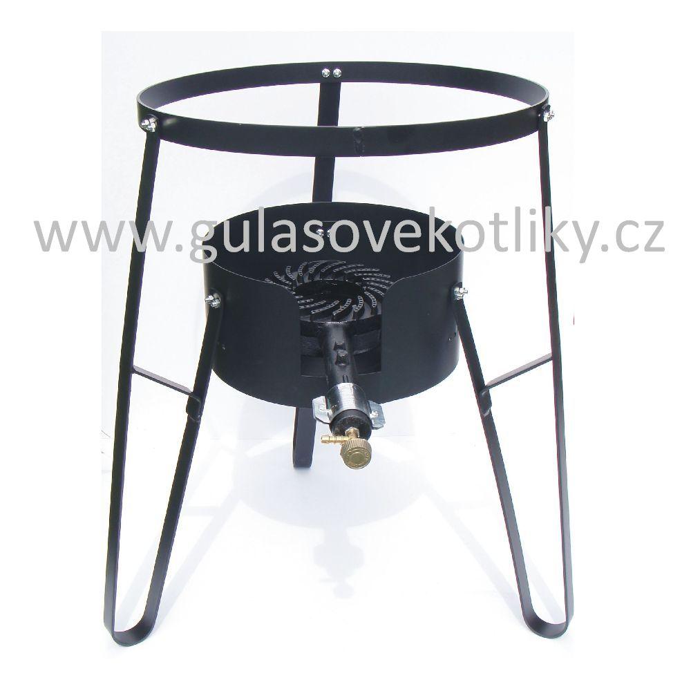 stojan na plynový hořák včetně vařiče (Stojan je vhodný pro vaření a ohřívání na akcích a v místech kde není vhodné nebo možné použití klasického ohniště.)