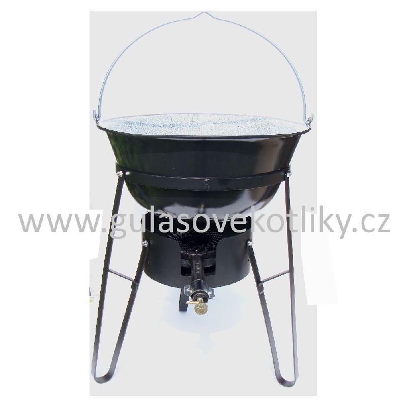 souprava stojan vařič a kotlík 40 litrů (Stojan je vhodný pro vaření a ohřívání na akcích a v místech kde není vhodné nebo možné použití klasického ohniště.)