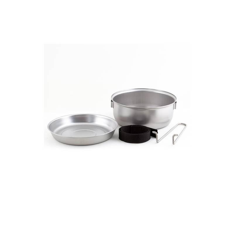 Ešus CAMPING Sada campingového nádobí TRAMP (nádobí z potravinářské nerezavějící oceli s matným povrchem)