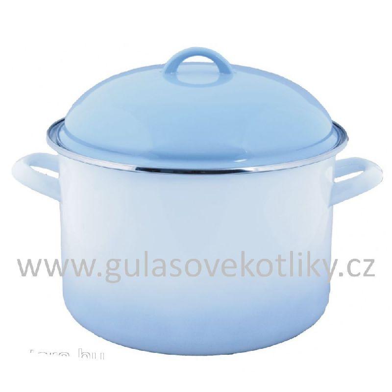 hrnec s poklicí Ema-Lion Alice modrý stín 5,5 L (hrnec smaltovaný modrý stín 5,5 L)