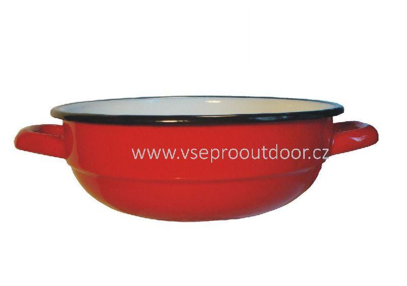 mísa na salát červená smaltovaná 24 cm (červená smaltovaná salátová mísa)