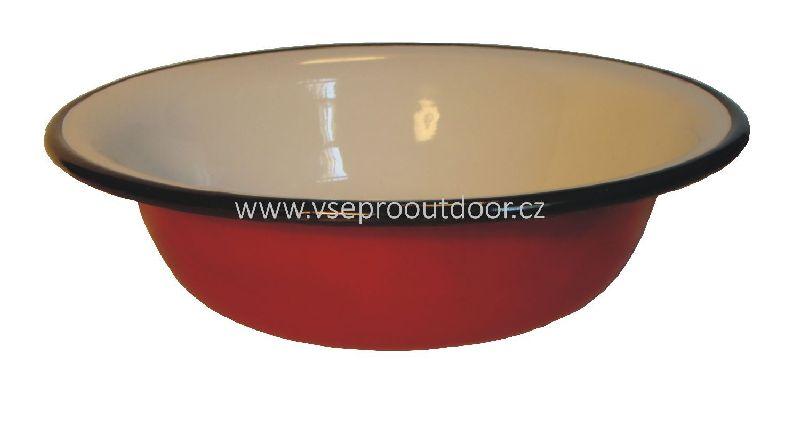 červený smaltovaný talíř hluboký 20 cm (červený smaltovaný talíř hluboký 20 cm )