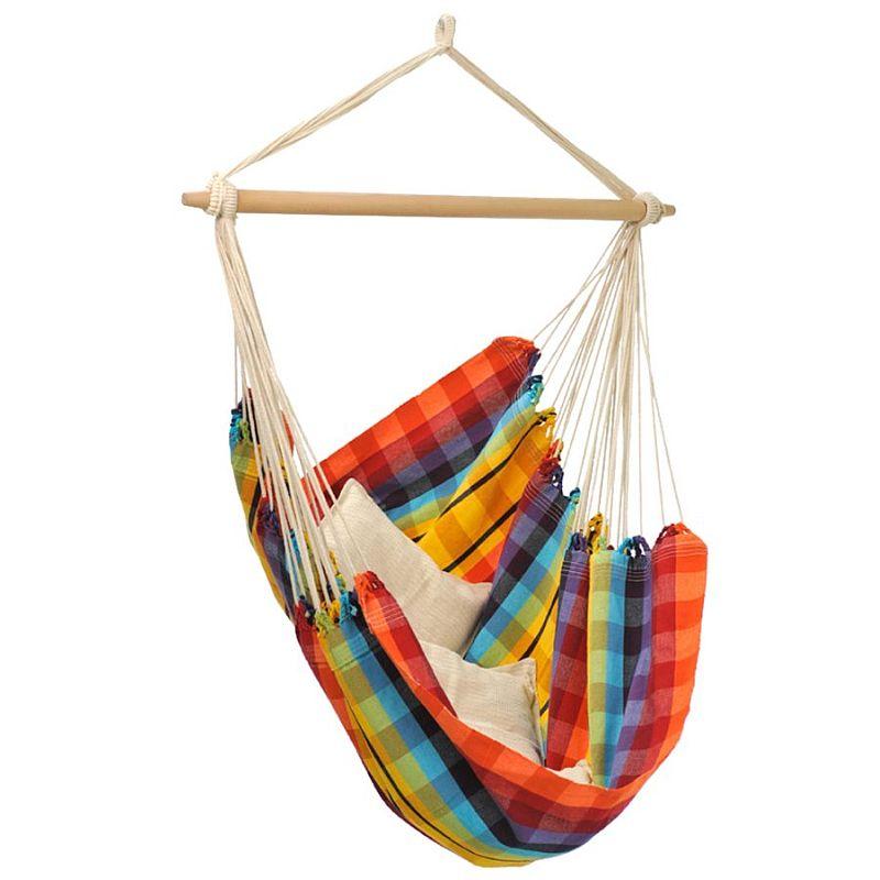 houpací závěsné křeslo BRASIL rainbow (křeslo houpací k zavěšení)