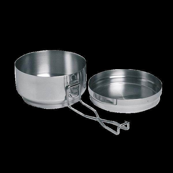 Ešus YATE nerezový dvojdílný (kempingové nádobí dvojdílné nerez)