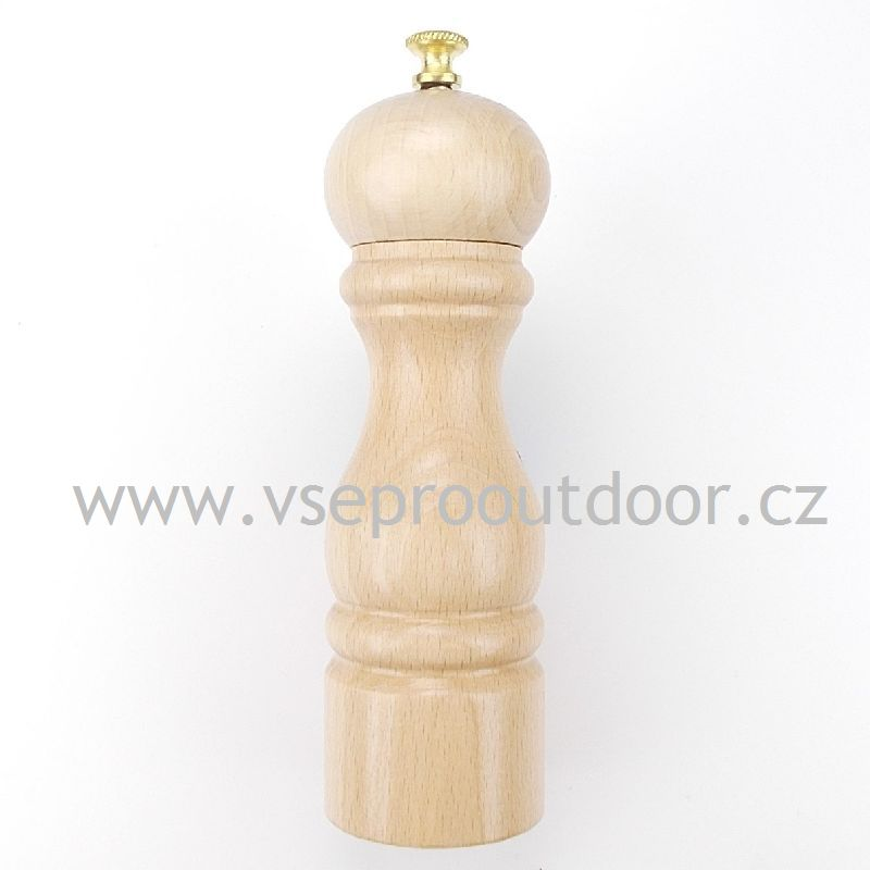Mlýnek na pepř střední ( Dřevěný mechanický mlýnek na sůl/pepř s prvotřídním kovovým mlecím mechanismem )