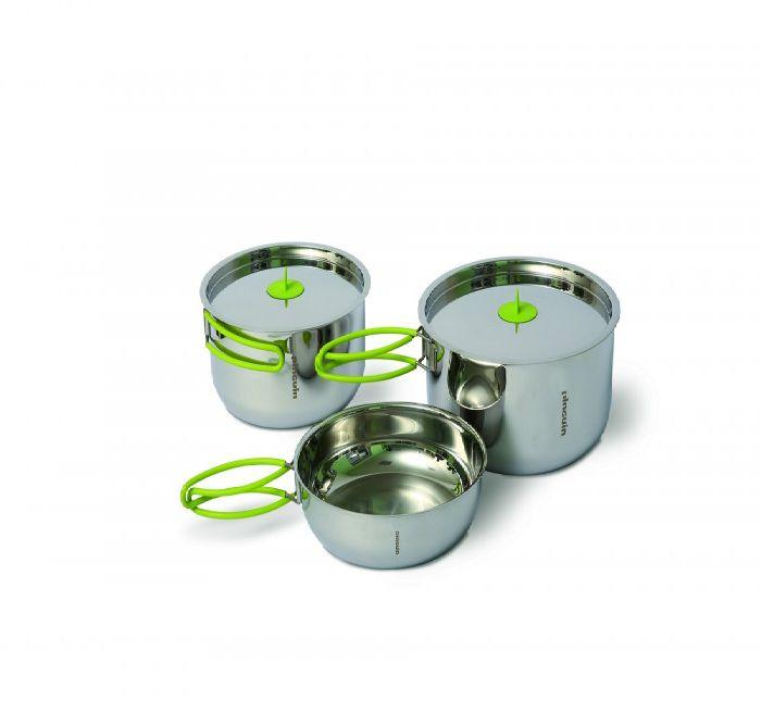 Sada nerezového nádobí Duo L (nerezové nádobí pro jednu až dvě osoby)