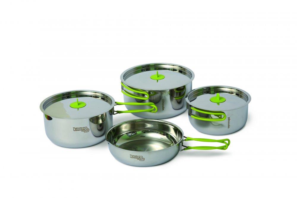 Sada nerez nádobí Trio S (nerezové nádobí pro dvě až tři osoby)